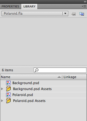 We've imported our assets in to our Flash Document's library