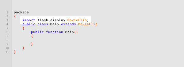 The 'import' line tells Flash where to find the actual MovieClip so that we can extend it.